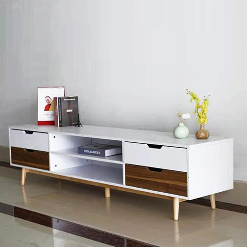 طاولة تلفاز موديل super royal بأدراج ووحدات تخزين