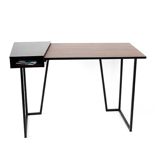 طاولة مكتبية موديل لانا عصرية بوحدة تخزين بأرجل من الحديد الصلب