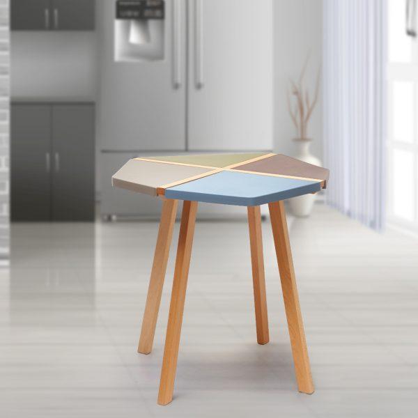 طاولة داخلية وخارجية موديل رومينيا بشكل هندسي