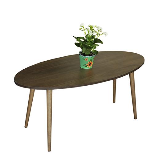 طاولة قهوة موديل أرتولي بني صناعة خشبية بأرجل من خشب الزان