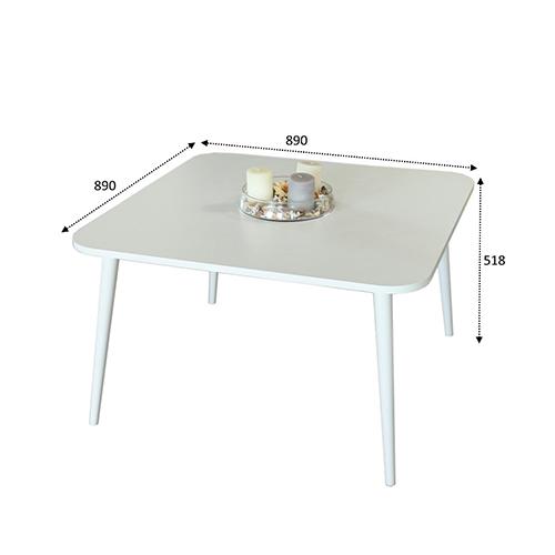 أبعاد ومقاسات طاولة قهوة لون أبيض
