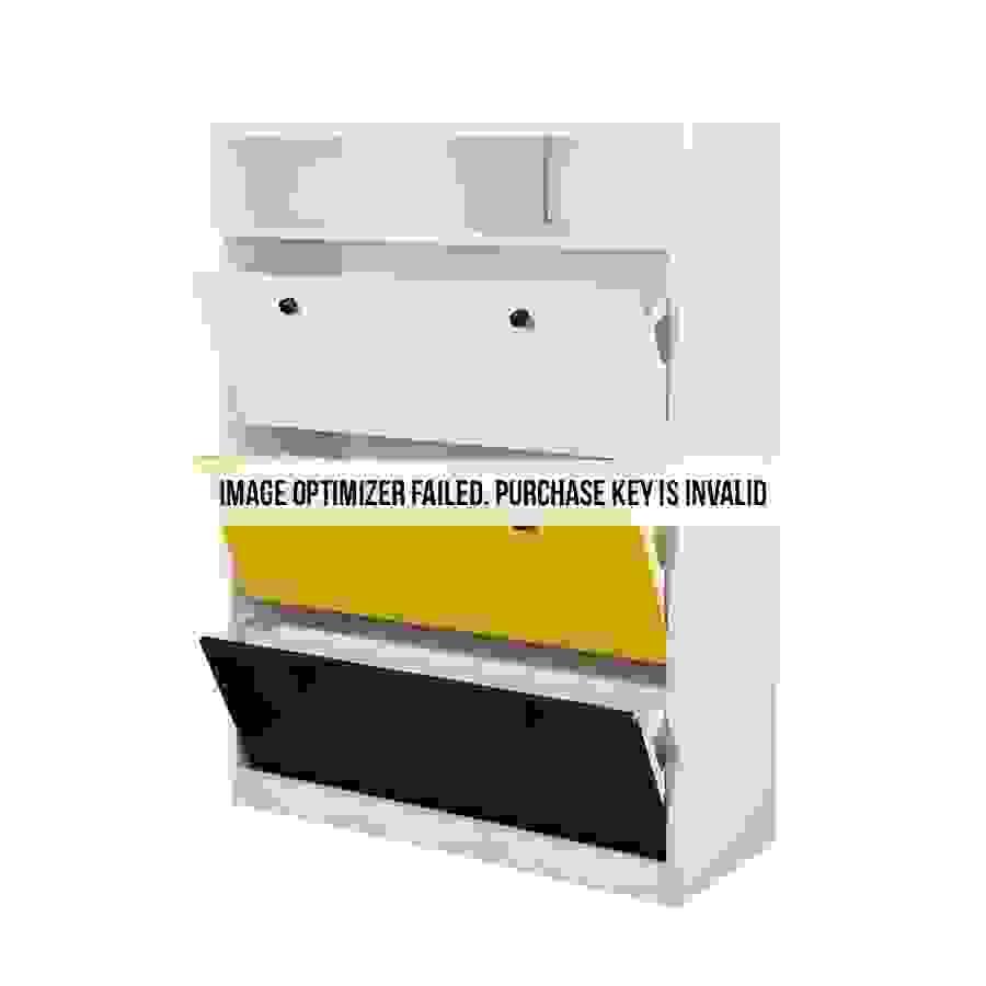 منظم أحذية خشبي مفتوح الأدراج