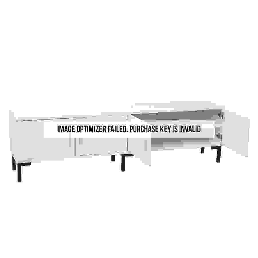 طاولة تلفاز خشبية بوحدات تخزين