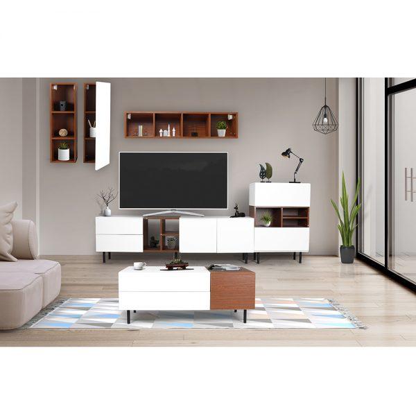 طاولة تلفاز وقهوة