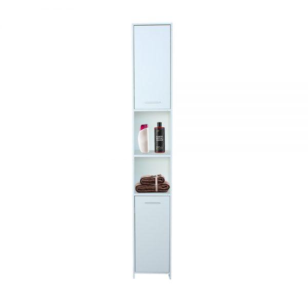 منظم تواليت موديل ريما بأبواب إثنين وستة أرفف لون أبيض