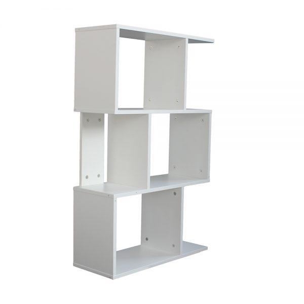 خزانة مفتوحة للكتب موديل كلير شكل جميل عدد أربعة أرفف لون أبيض