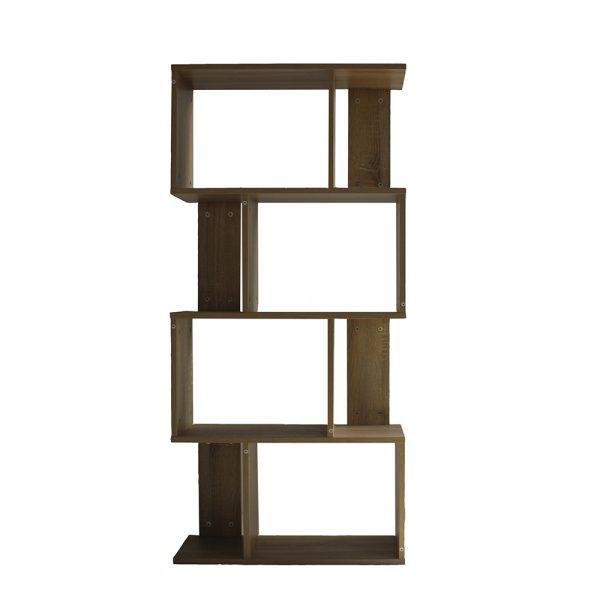 خزانة مفتوحة للكتب موديل لارس شكل جميل عدد خمسة أرفف لون بني