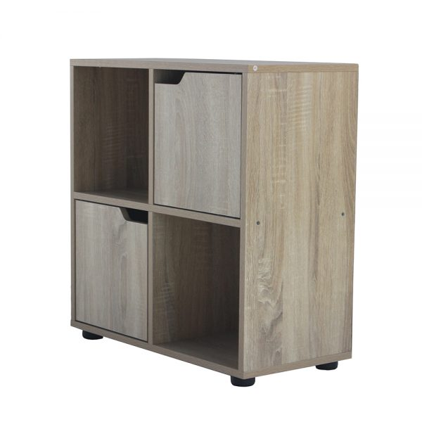 خزانة متعددة الاستخدام موديل شارلي بأربعة وحدات تخزين صناعة خشبية لون بني