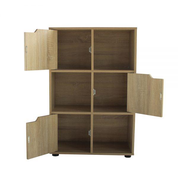 أبواب ووحدات تخزين خزانة خشبية