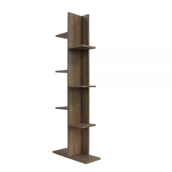 خزانة مفتوحة للكتب موديل ريمو مصنوعة من الخشب عدد ثمانية أرفف لون بني