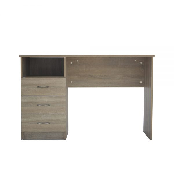 طاولة مكتبية موديل ليتو كاري بثلاثة أدراج سحاب ووحدة تخزين مفتوحة