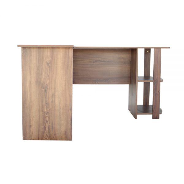 صورة أمامية لطاولة مكتبية لون خشبي