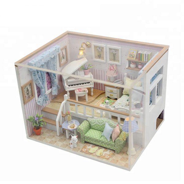 مجسم تركيب موديل هوم وان محاكاة تركيب منزل جميل بإضاءة ليد