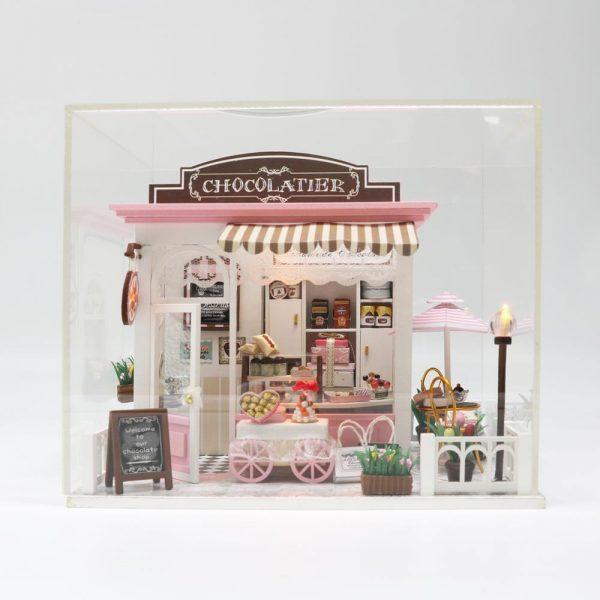 مجسم تركيب موديل جالكسي محاكاة تركيب متجر شوكولاتة جميل بإضاءة ليد
