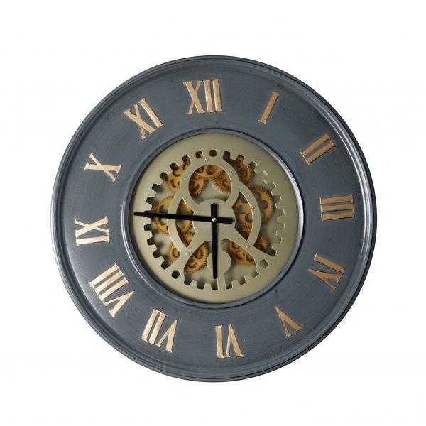 ساعة حائط موديل سكند شكل دائري صناعة معدنية