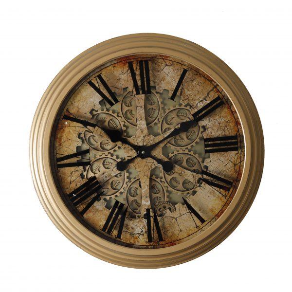 ساعة حائط موديل مينتس شكل دائري صناعة معدنية
