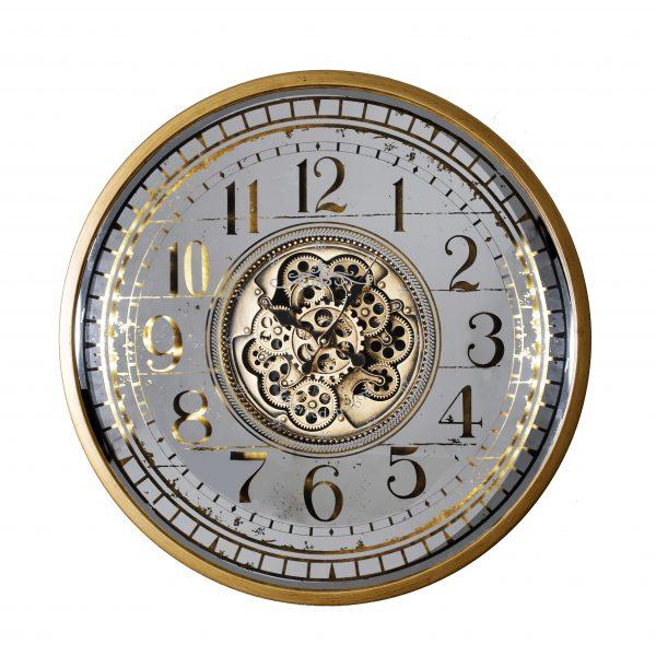 ساعة حائط موديل ويك شكل دائري صناعة معدنية