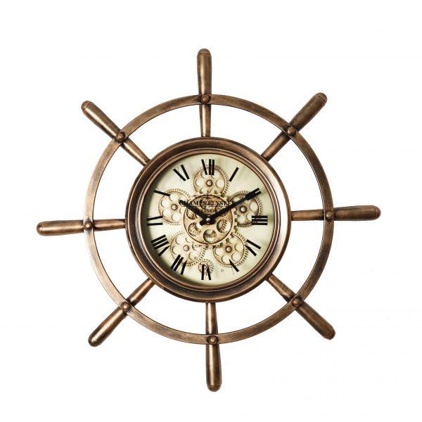 ساعة حائط موديل منث شكل دائري صناعة معدنية