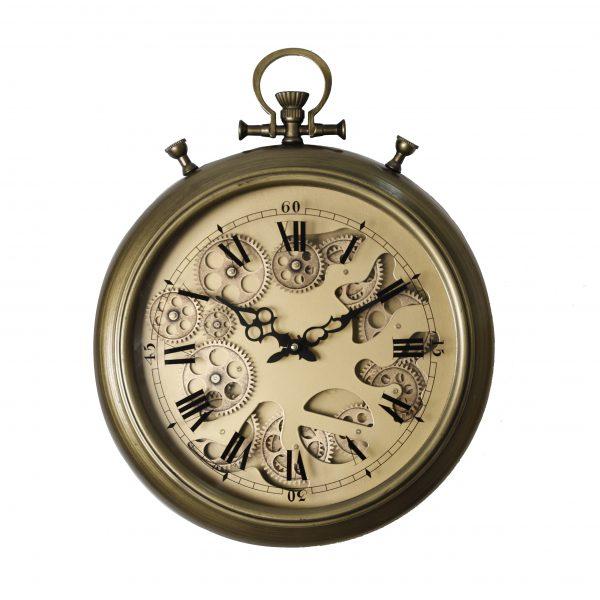 ساعة حائط موديل ديكيد شكل دائري صناعة معدنية