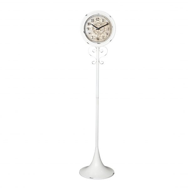 ساعة أرضية موديل سينشري شكل دائري صناعة معدنية
