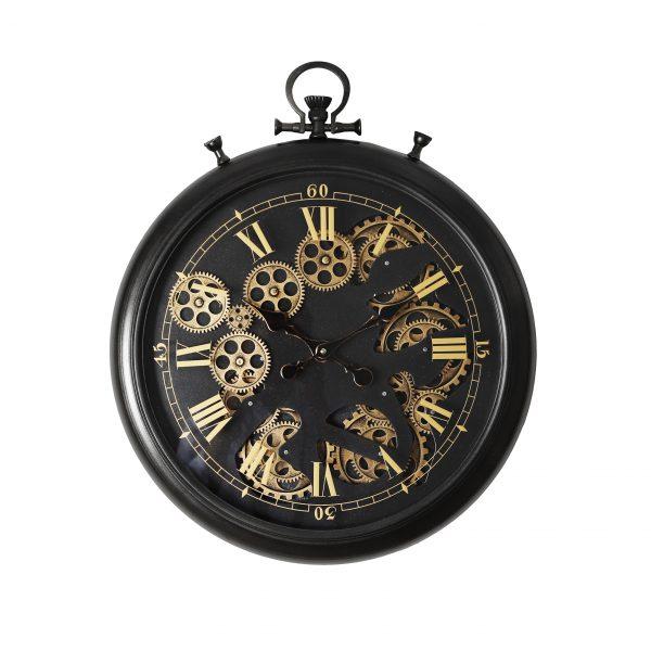 ساعة حائط موديل مورنينق شكل دائري صناعة معدنية