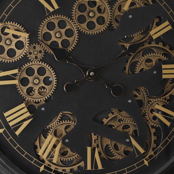 عقارب ساعة أسود وذهبي