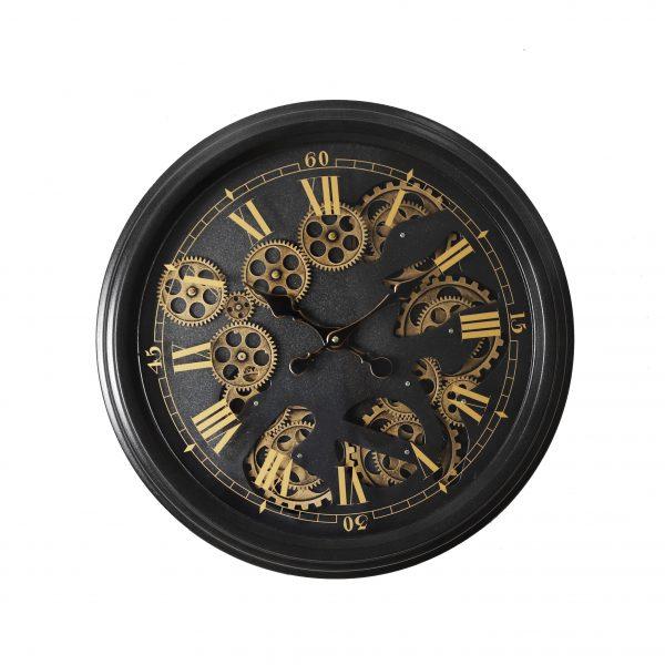 ساعة حائط موديل ايفنينق شكل دائري صناعة معدنية
