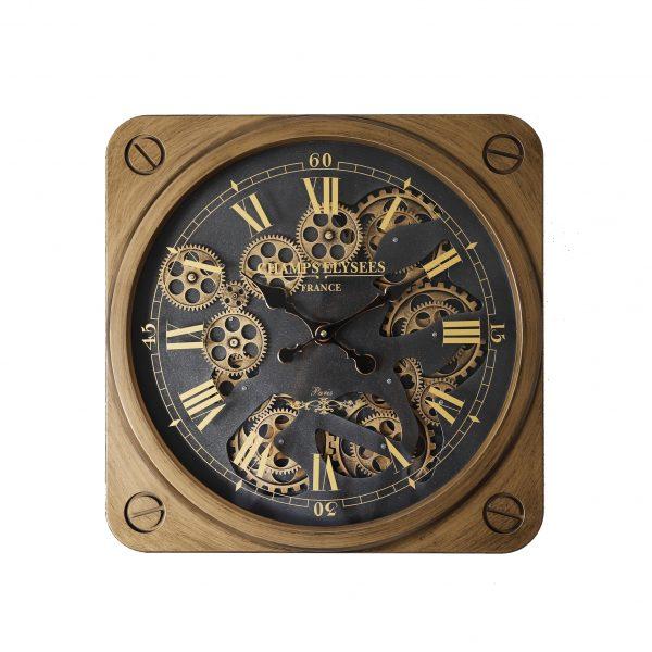 ساعة حائط موديل نون شكل مربع صناعة بلاستيكية