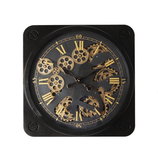 ساعة حائط موديل ميدلي شكل مربع صناعة بلاستيكية