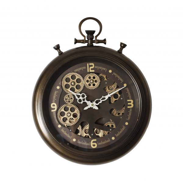 ساعة حائط موديل ميد نايت شكل دائري صناعة معدنية