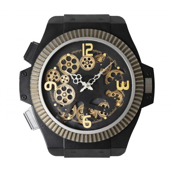 ساعة حائط موديل سن رايز شكل ساعة يد صناعة معدنية