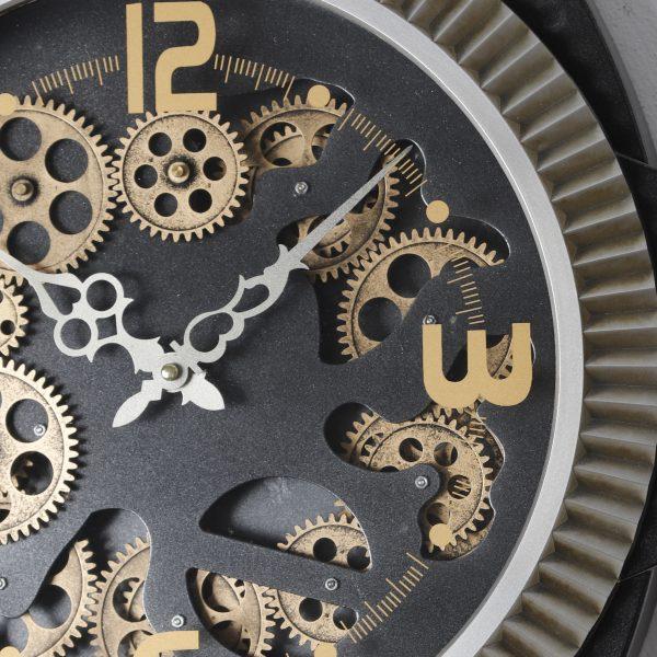 عقارب وتروس ساعة خلفية سوداء