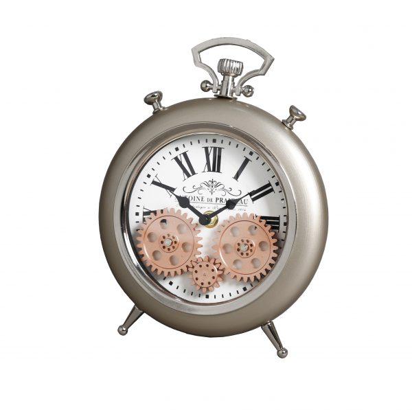 ساعة طاولة أنتيكة موديل سون داي شكل دائري صناعة معدنية
