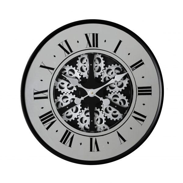 ساعة حائط أنتيكة موديل نيفر داي شكل دائري صناعة معدنية