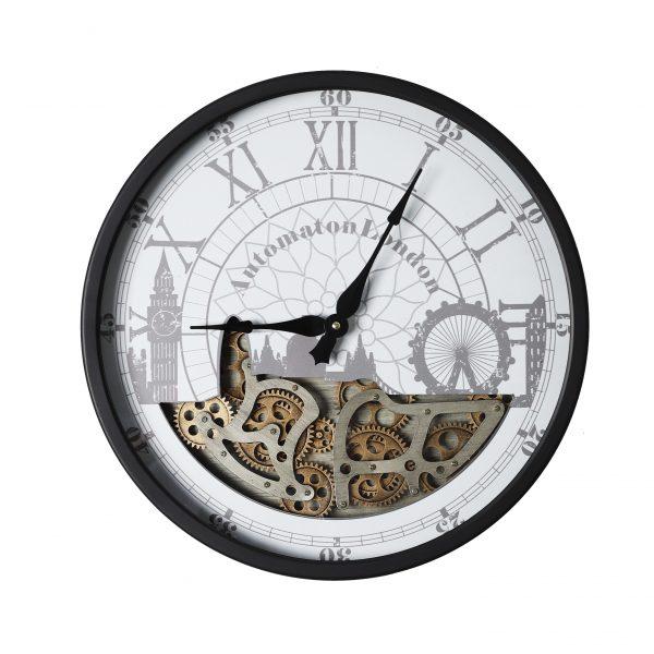 ساعة حائط أنتيكة موديل ويكلي شكل دائري صناعة معدنية