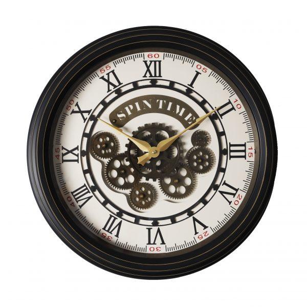 ساعة حائط أنتيكة موديل ايفري ويك شكل دائري صناعة معدنية