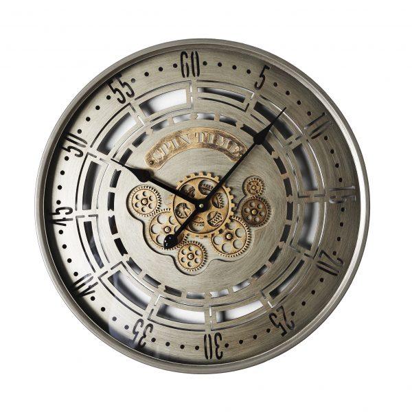 ساعة حائط أنتيكة موديل منثلي شكل دائري صناعة معدنية