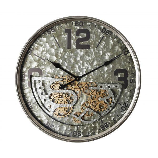 ساعة حائط أنتيكة موديل يير شكل دائري صناعة معدنية