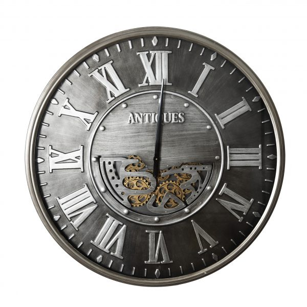 ساعة حائط أنتيكة موديل ايفري يير شكل دائري صناعة معدنية