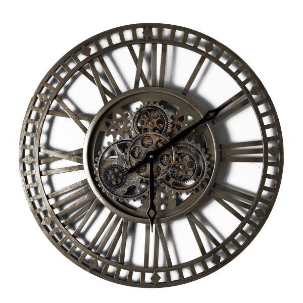 ساعة حائط أنتيكة موديل لينز شكل دائري صناعة معدنية