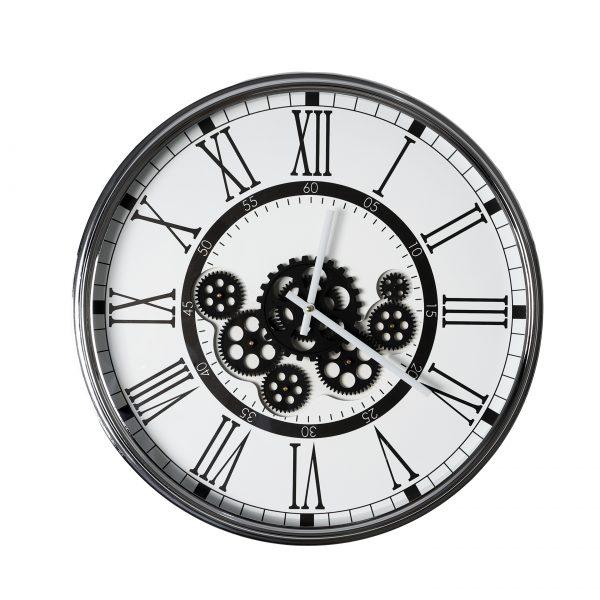 ساعة حائط أنتيكة موديل مارتيز شكل دائري صناعة معدنية