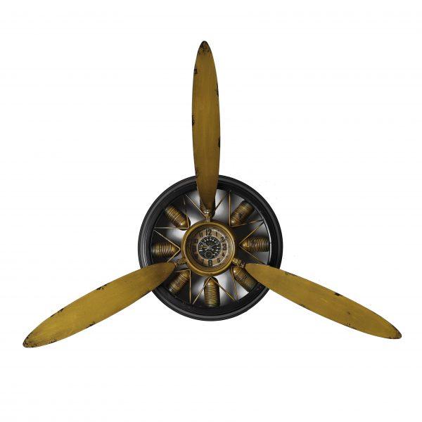 ساعة حائط أنتيكة موديل سبادو شكل دائري صناعة معدنية