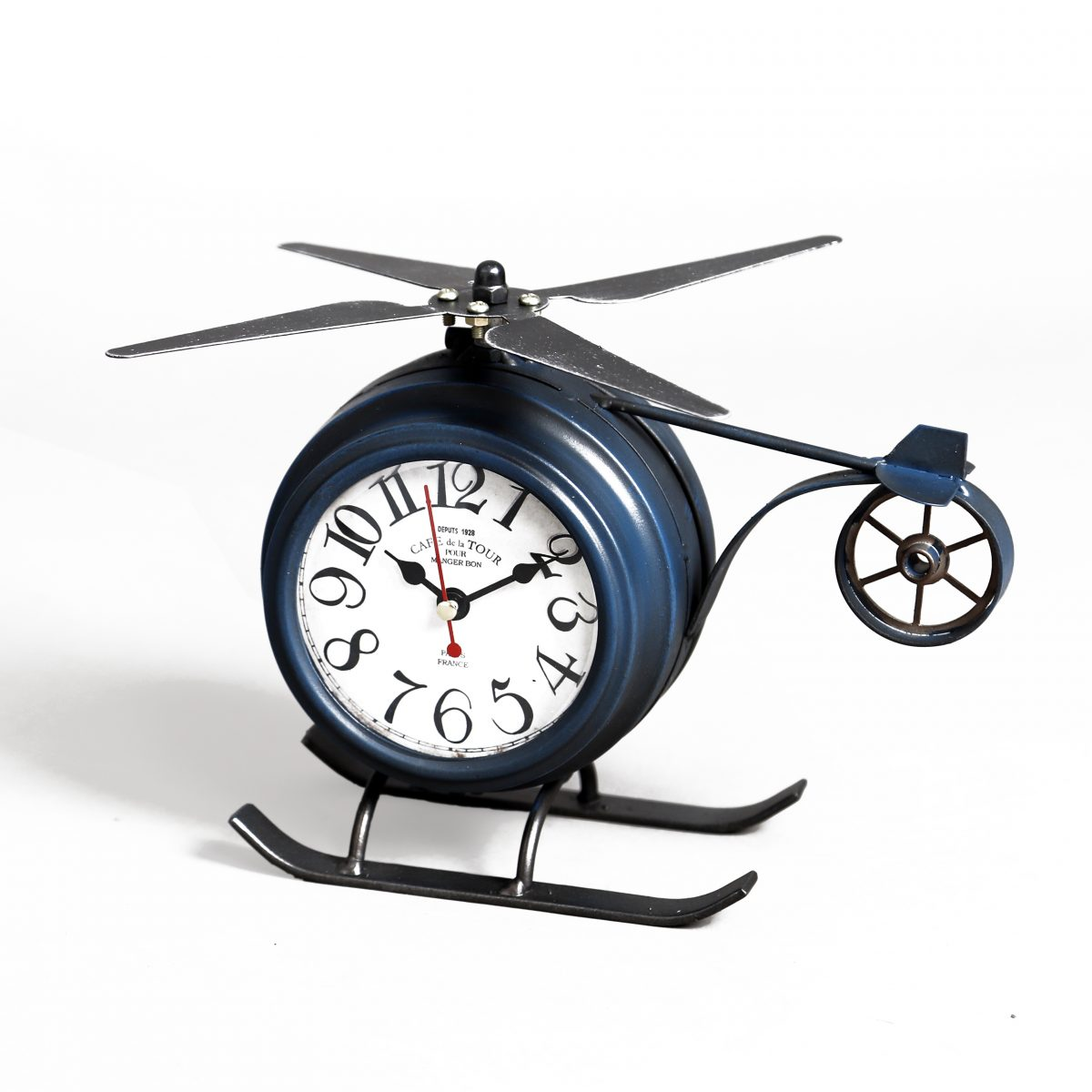 ساعة طاولة أنتيكة موديل بلان شكل الطائرة صناعة معدنية