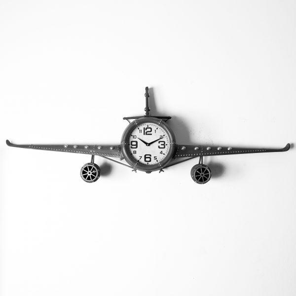 ساعة حائط أنتيكة موديل بلان تو شكل طائرة صناعة معدنية