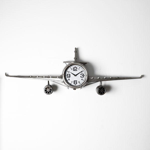 ساعة حائط أنتيكة موديل بلان ثري شكل طائرة صناعة معدنية