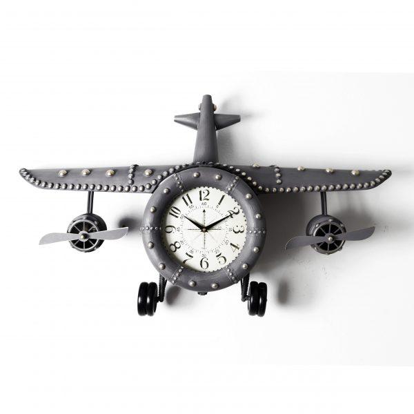 ساعة حائط أنتيكة موديل بلان فور شكل طائرة صناعة معدنية