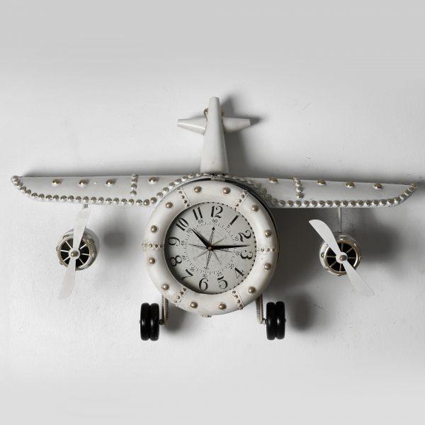 ساعة حائط أنتيكة موديل بلان فايف شكل طائرة صناعة معدنية