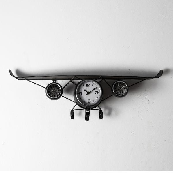 ساعة حائط أنتيكة موديل بلان سفن شكل طائرة صناعة معدنية