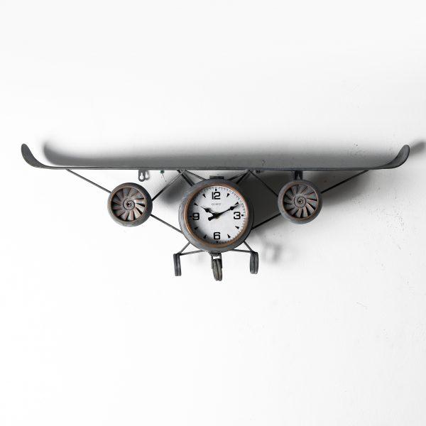 ساعة حائط أنتيكة موديل بلان ايت شكل طائرة صناعة معدنية