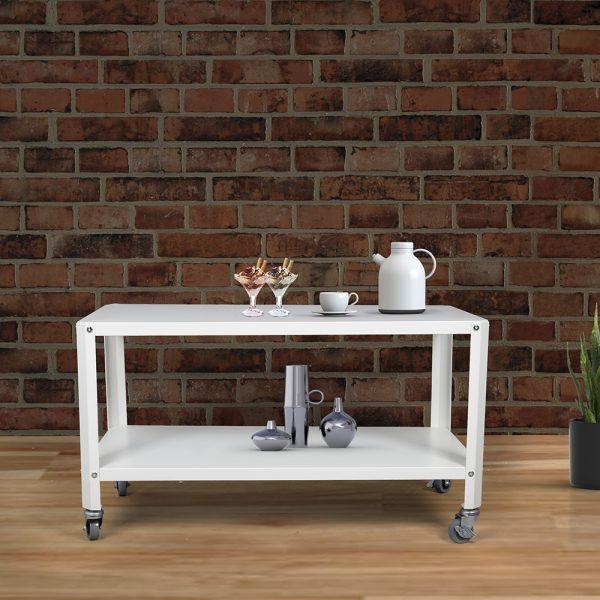طاولة متعددة الاستخدام لون ابيض